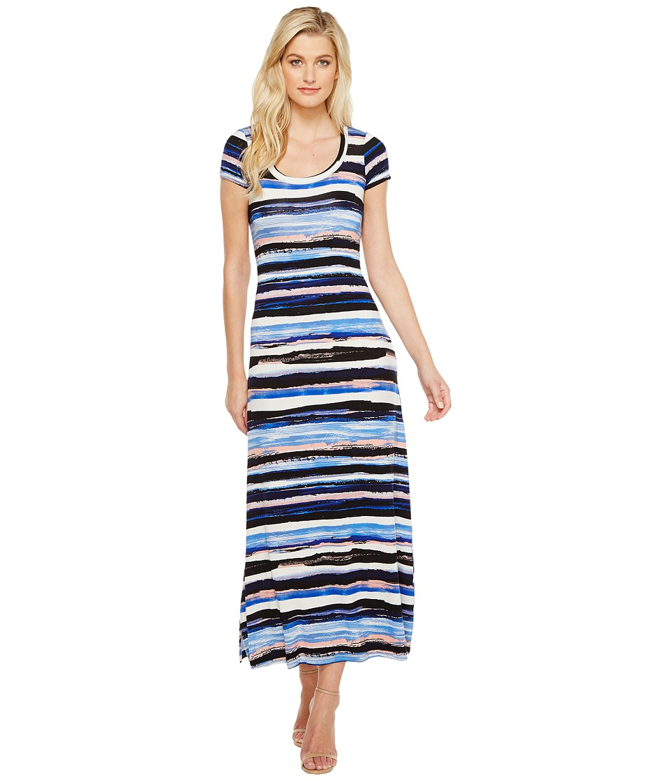 Karen Kane - Painted Stripe Maxi Dress (Multicolor) Women's Dress