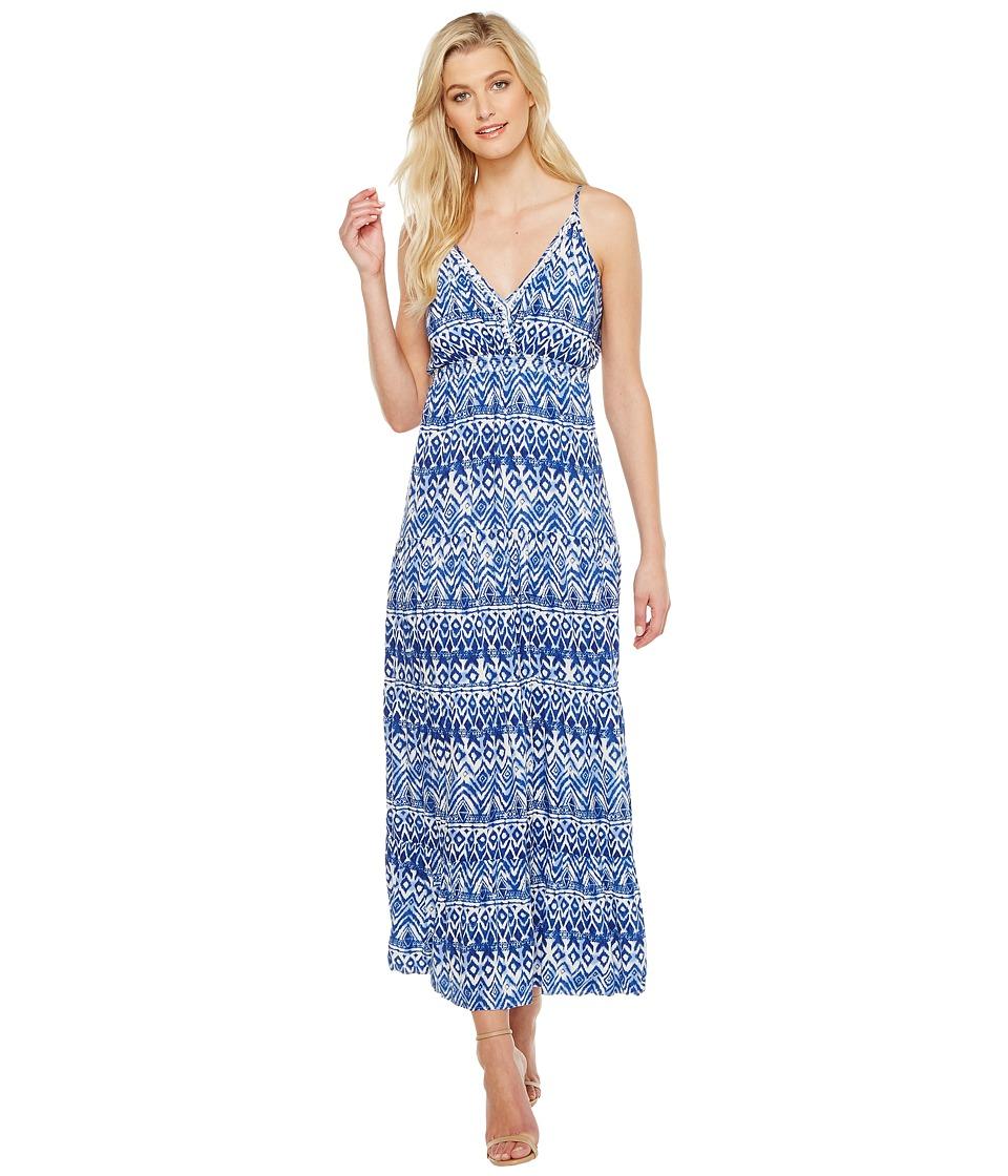 Karen Kane - Tiered Maxi Dress (Print) Women's Dress