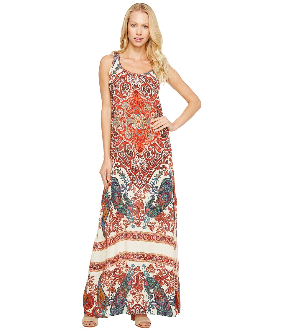 Karen Kane - Side Slit Maxi Dress (Print) Women's Dress