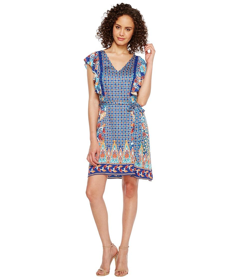 Hale Bob Sunshine Daze Stretch Rayon Satin Woven Dress
