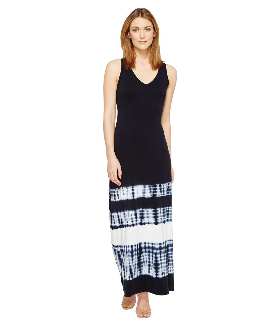 Karen Kane - V-Neck Maxi Dress (Tie-Dye) Women's Dress