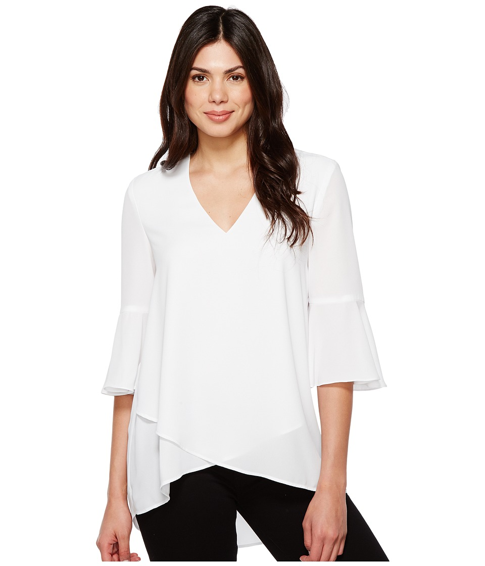Karen Kane - Bell Sleeve Wrap Hem Top (Off-White) Women's Clothing