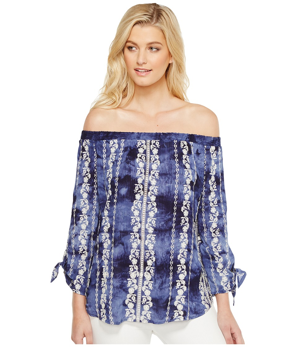 Karen Kane - Embroidered Off the Shoulder Top (Tie-Dye) Women's Clothing