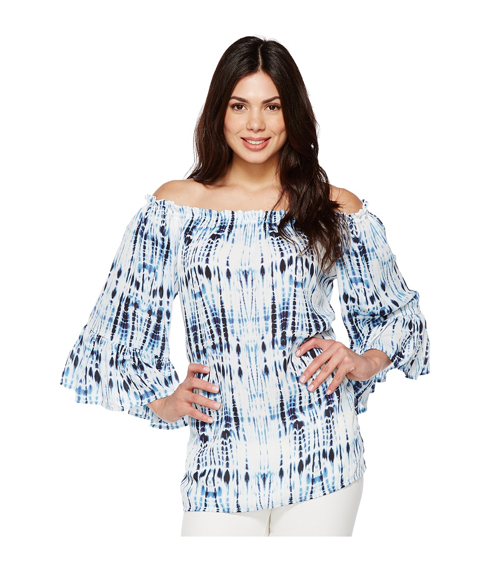 Karen Kane - Convertible Off the Shoulder Top (Print) Women's Clothing