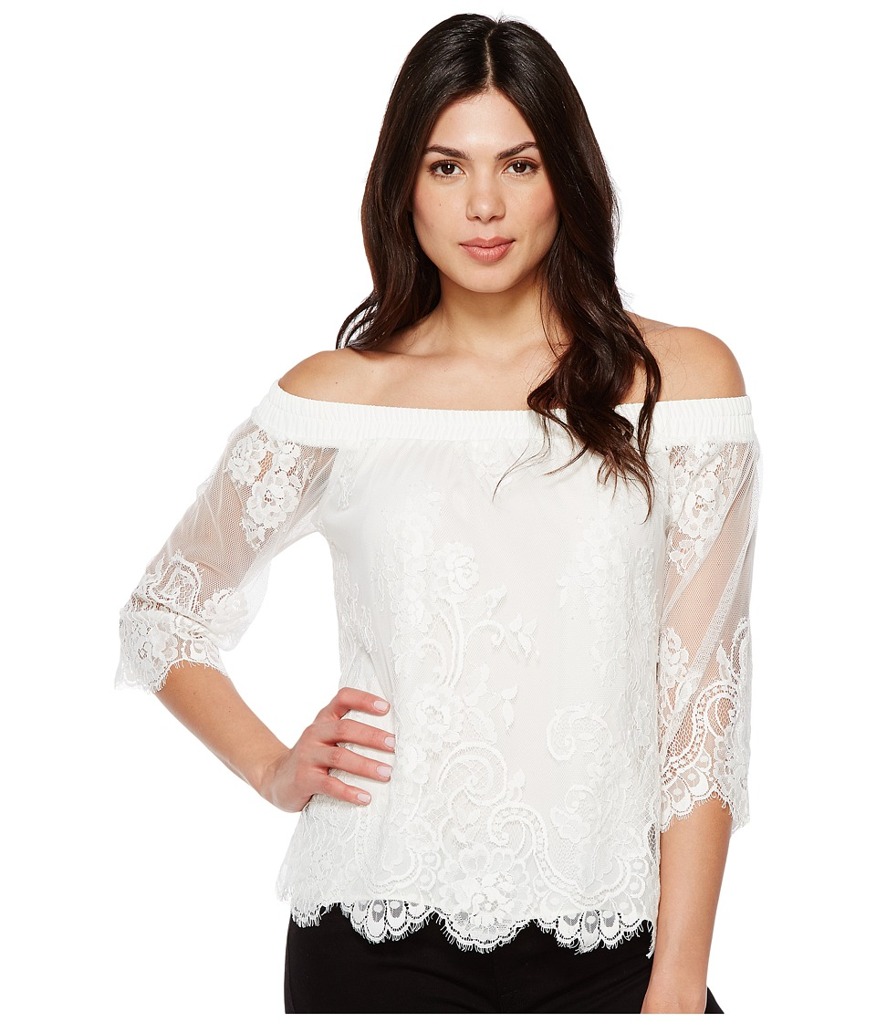 Karen Kane - Off the Shoulder Top (Off-White) Women's Clothing