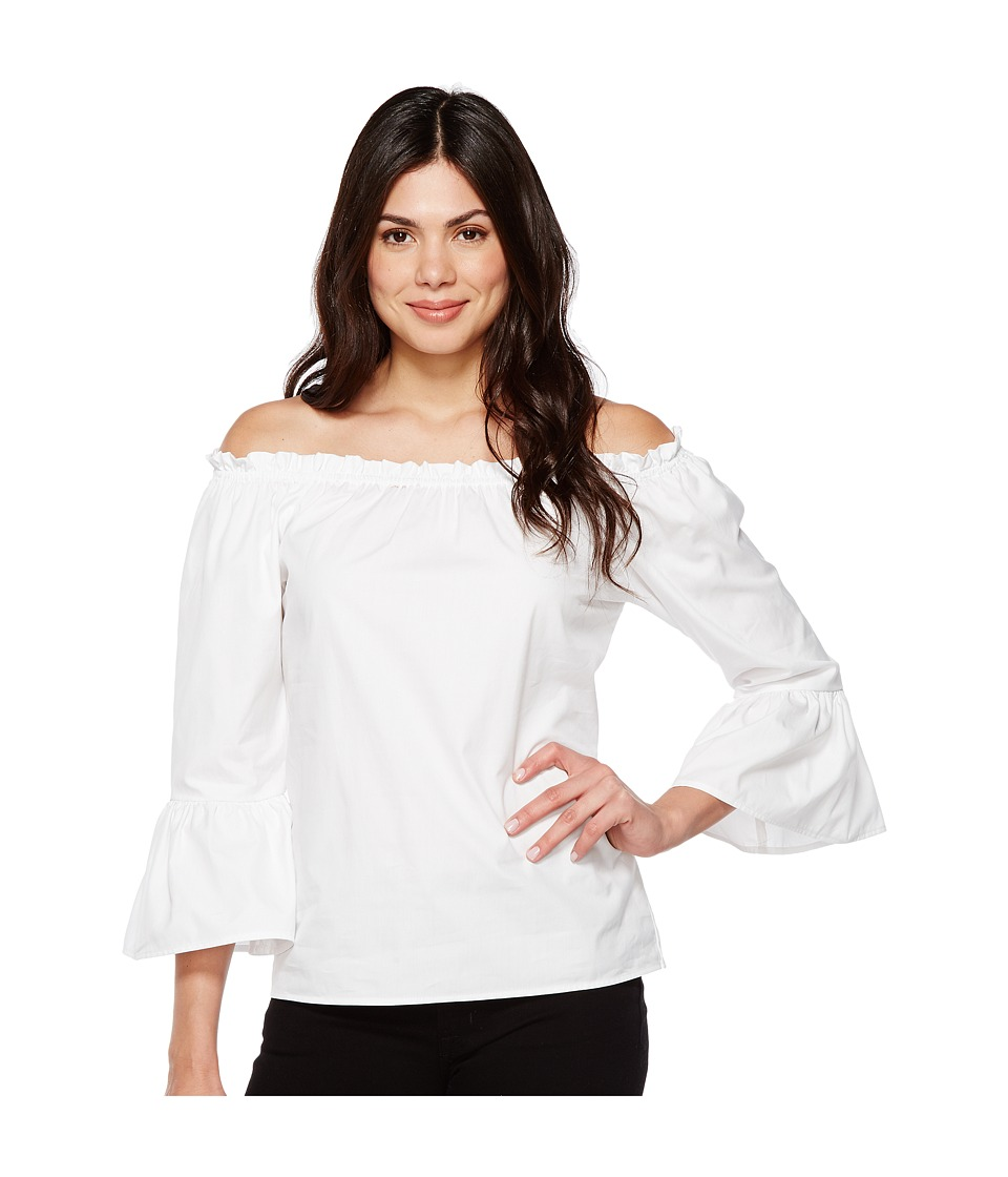 Karen Kane - Convertible Off the Shoulder Top (White) Women's Clothing