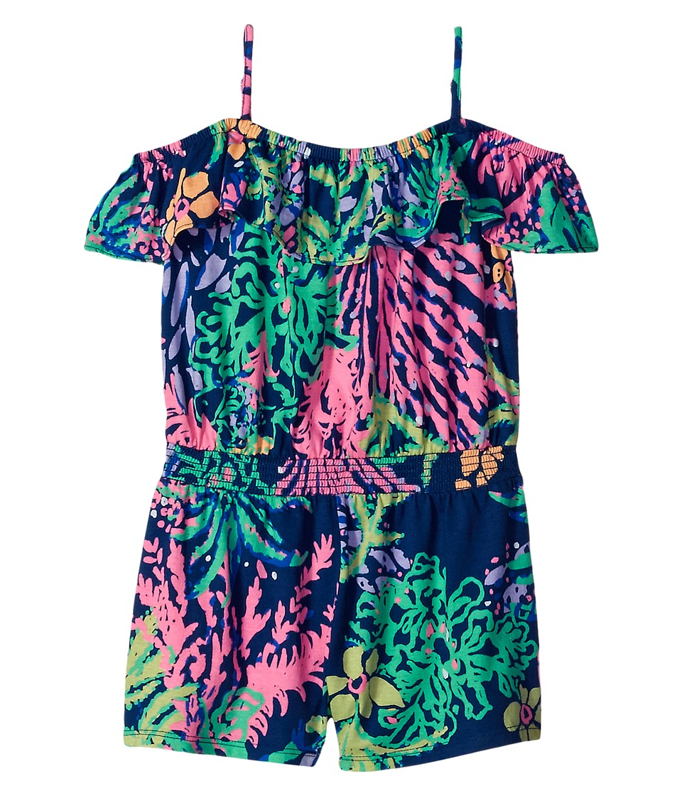 Lilly Pulitzer Kids - Emoni Romper (Toddler/Little Kids/Big Kids) (Indigo All A Glow) Girl's Jumpsuit & Rompers One Piece
