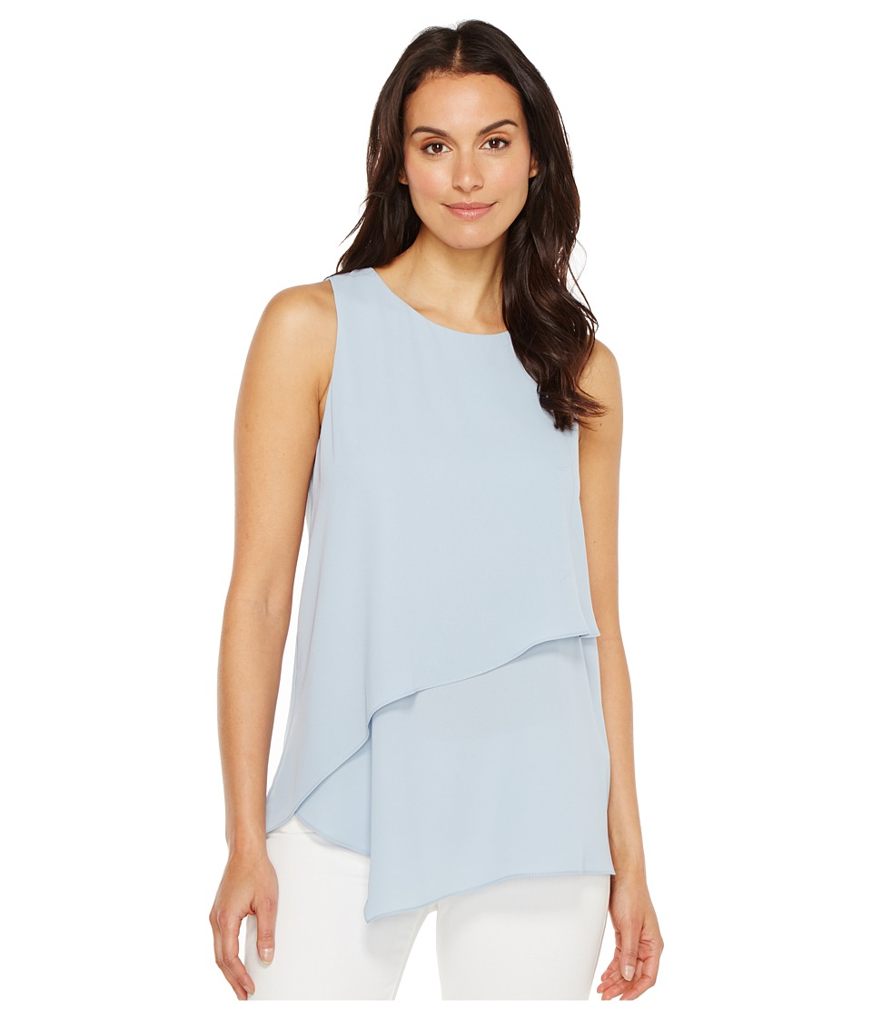 Karen Kane - Asymmetric Layered Top (Light Blue) Women's Clothing