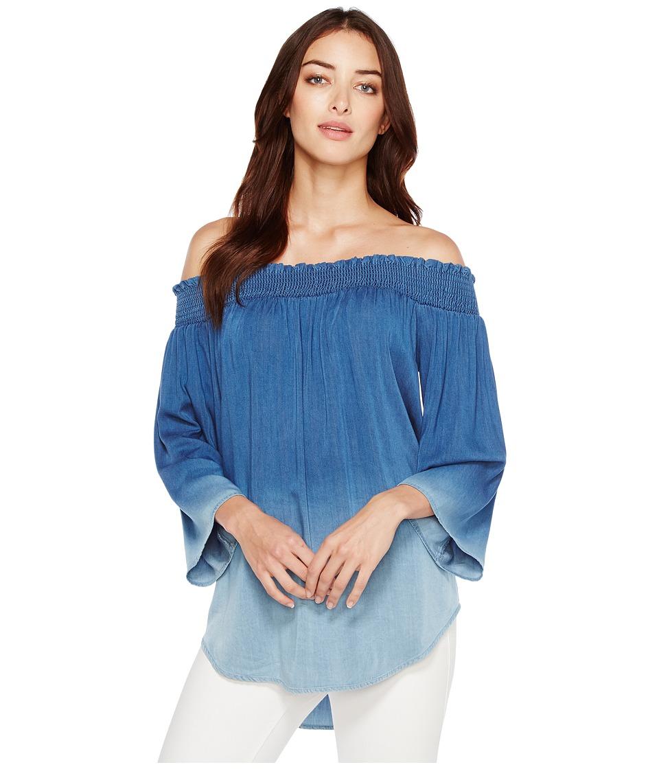 Karen Kane - Ombre Off the Shoulder Top (Blue) Women's Clothing