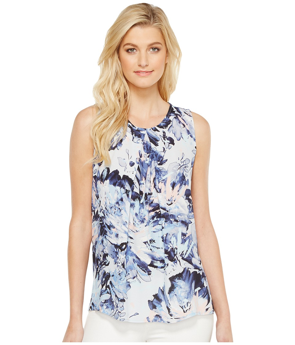 Karen Kane - Front Pleat Sleeveless Top (Print) Women's Clothing