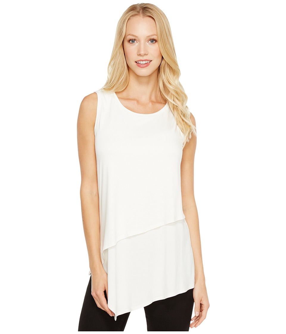Karen Kane - Asymmetric Layer Top (Cream) Women's Clothing