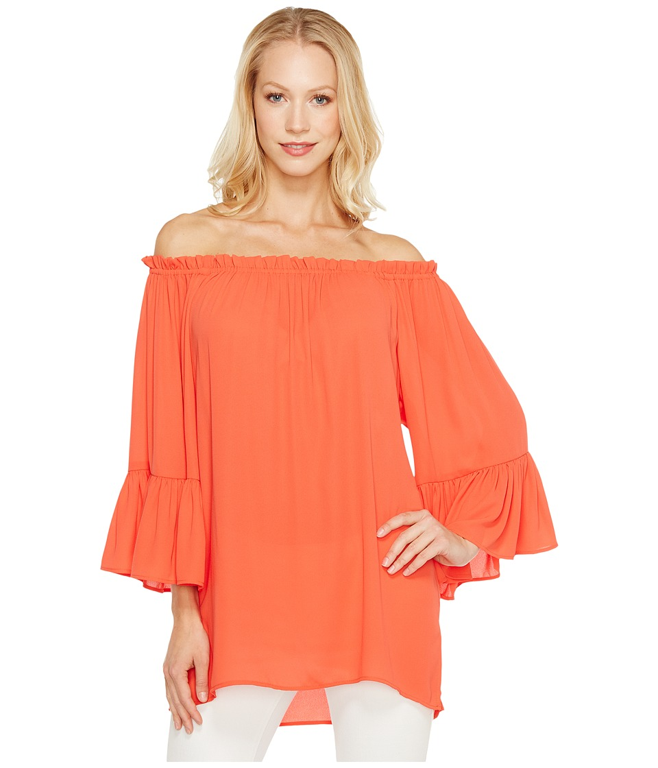 Karen Kane - Convertible Off the Shoulder Top (Orange) Women's Clothing