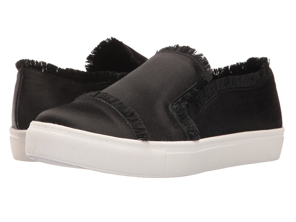 Dirty Laundry - Jump in Satin (Black) Women's Slip on Shoes