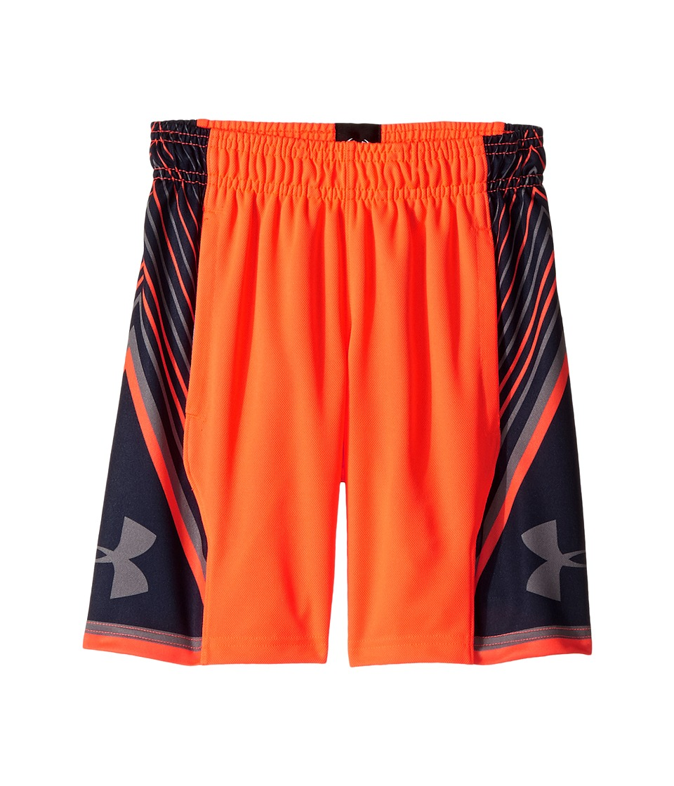 Under Armour Kids - Space The Floor Shorts (Big Kids) (Magma Orange/Midnight Navy/Graphite) Boy's Shorts