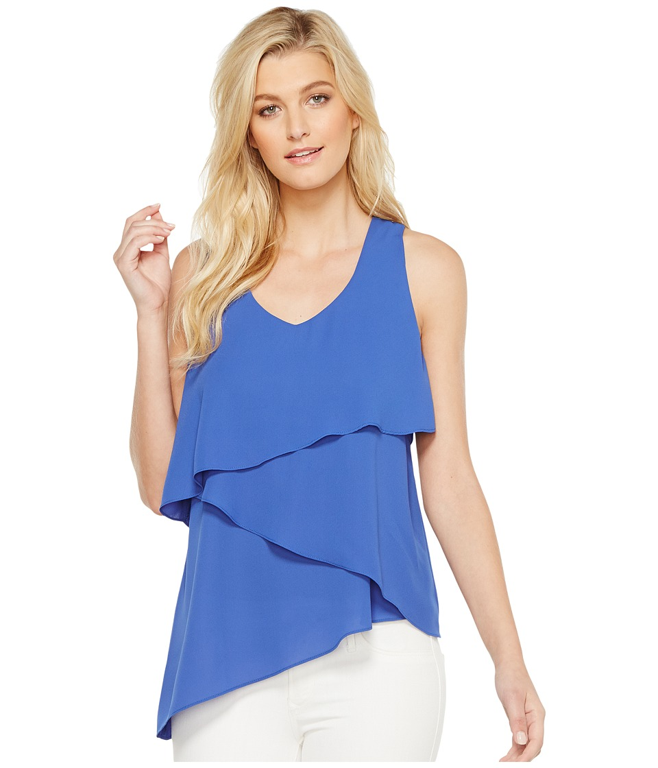 Karen Kane - Asymmetric Tier Tank Top (Iris) Women's Clothing