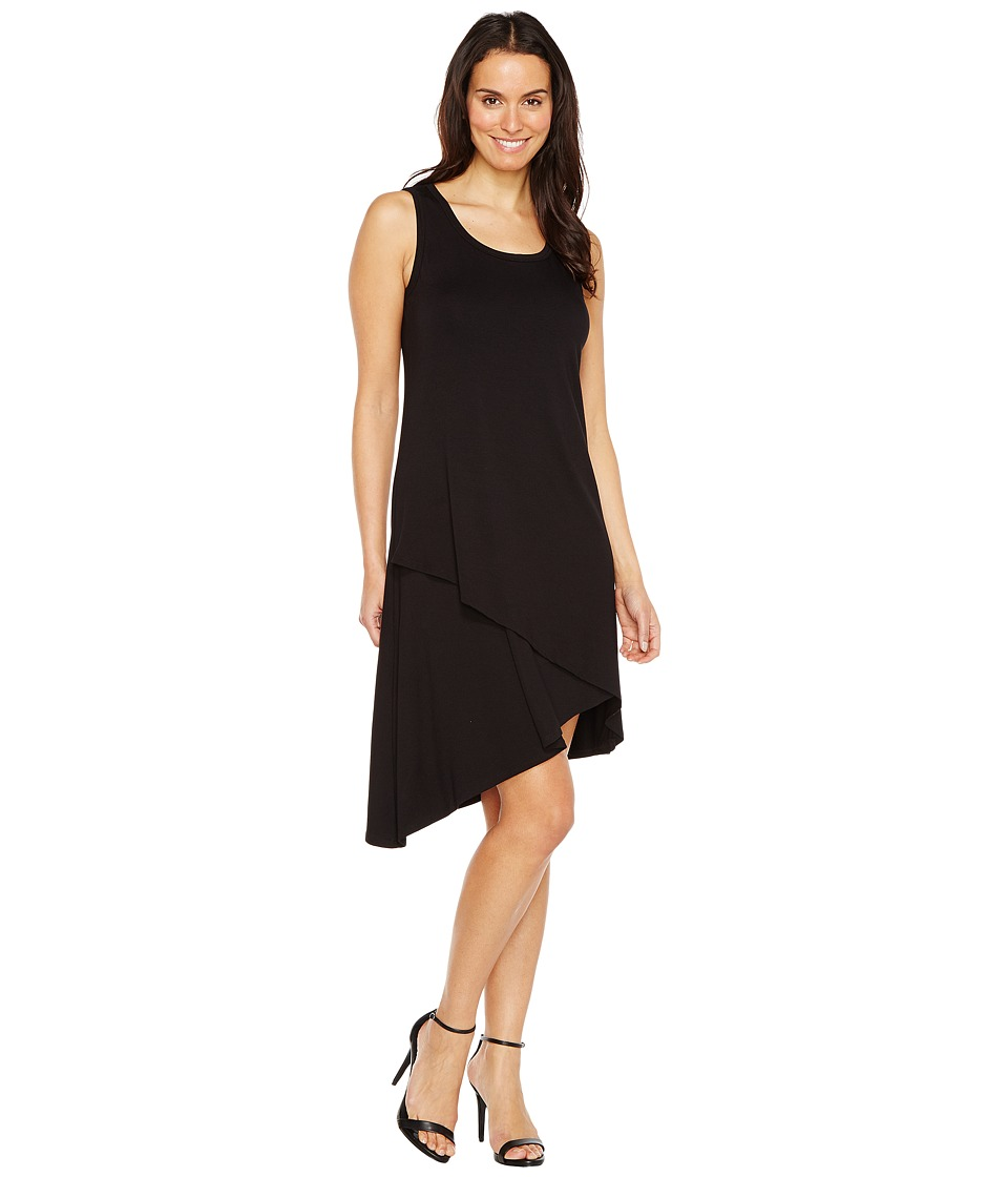 Karen Kane - Asymmetric Hem Dress (Black) Women's Dress