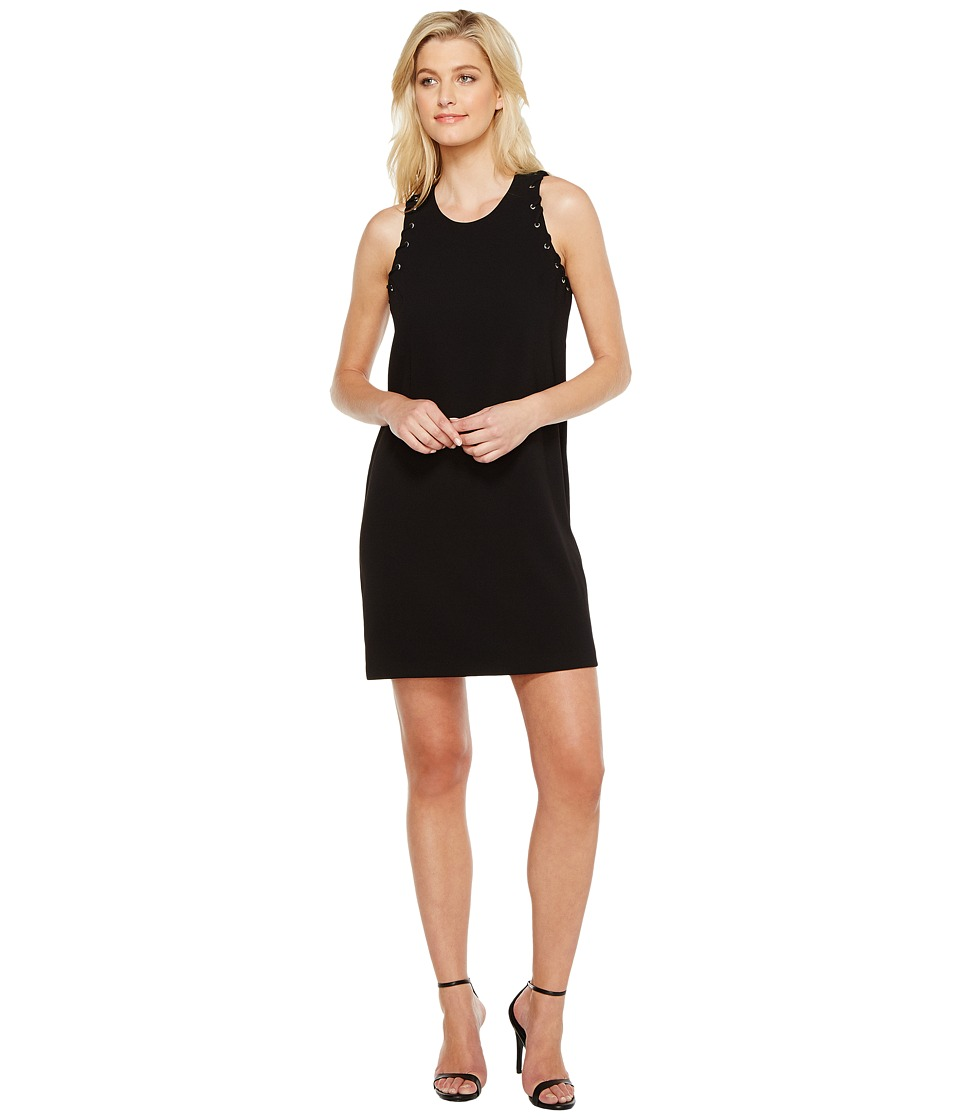 Karen Kane - Eyelet Shift Dress (Black) Women's Dress