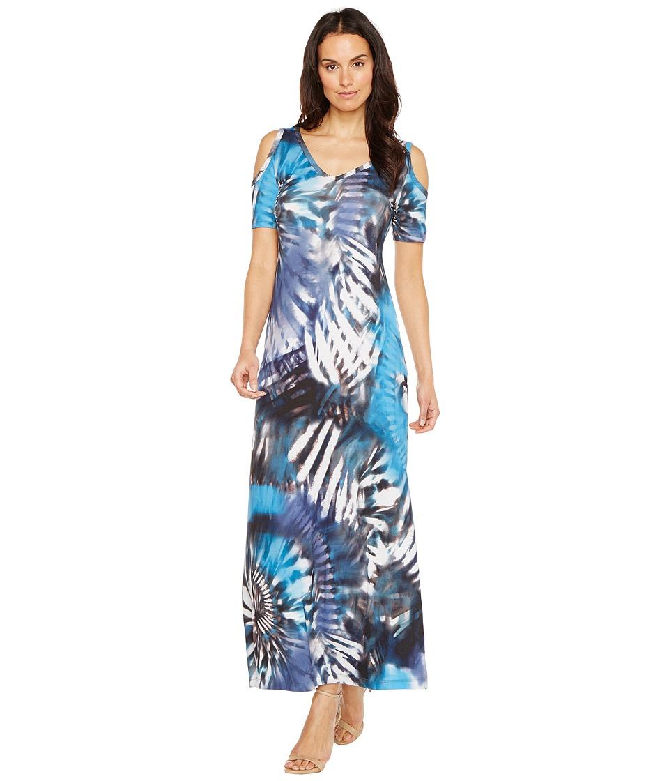Karen Kane - Cold Shoulder Maxi Dress (Print) Women's Dress