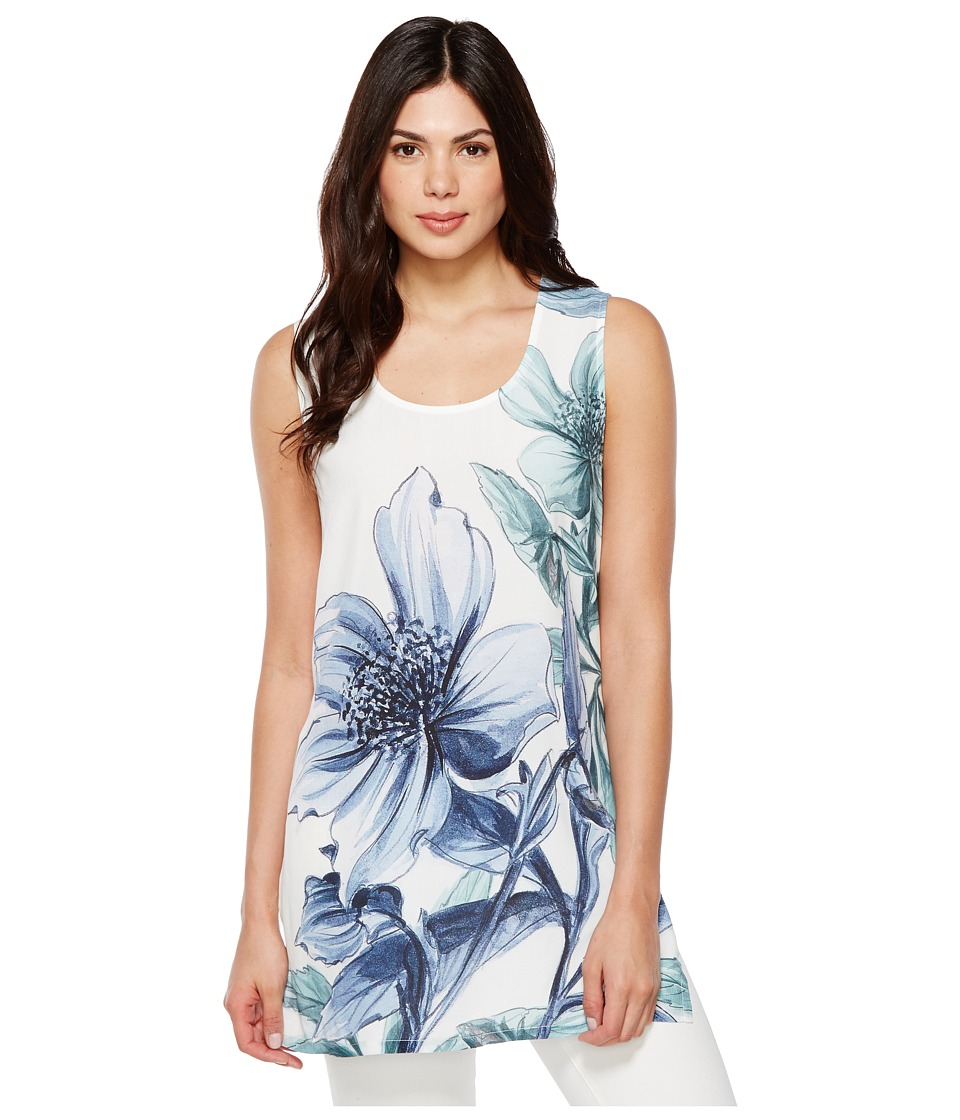 Karen Kane - High Slit Tunic (Print) Women's Clothing