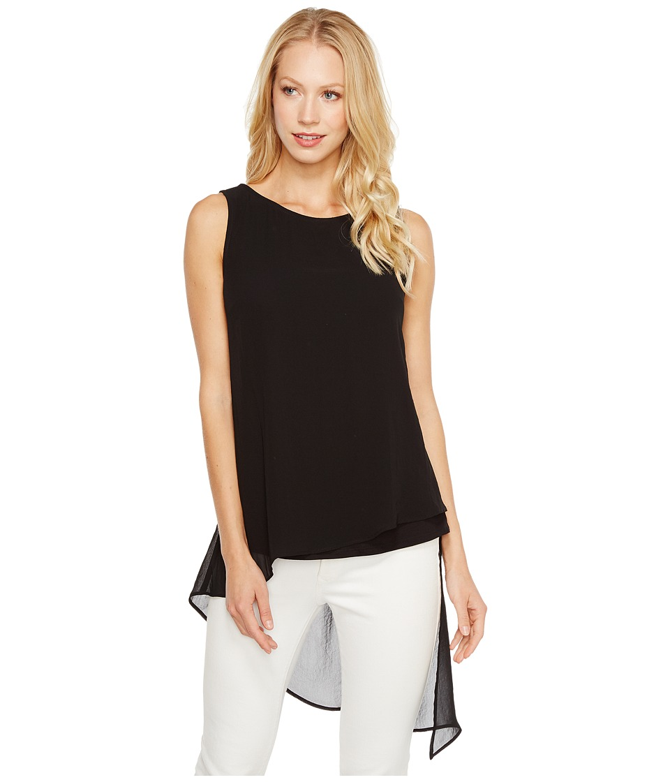Karen Kane - Asymmetric Overlay Tank Top (Black) Women's Clothing