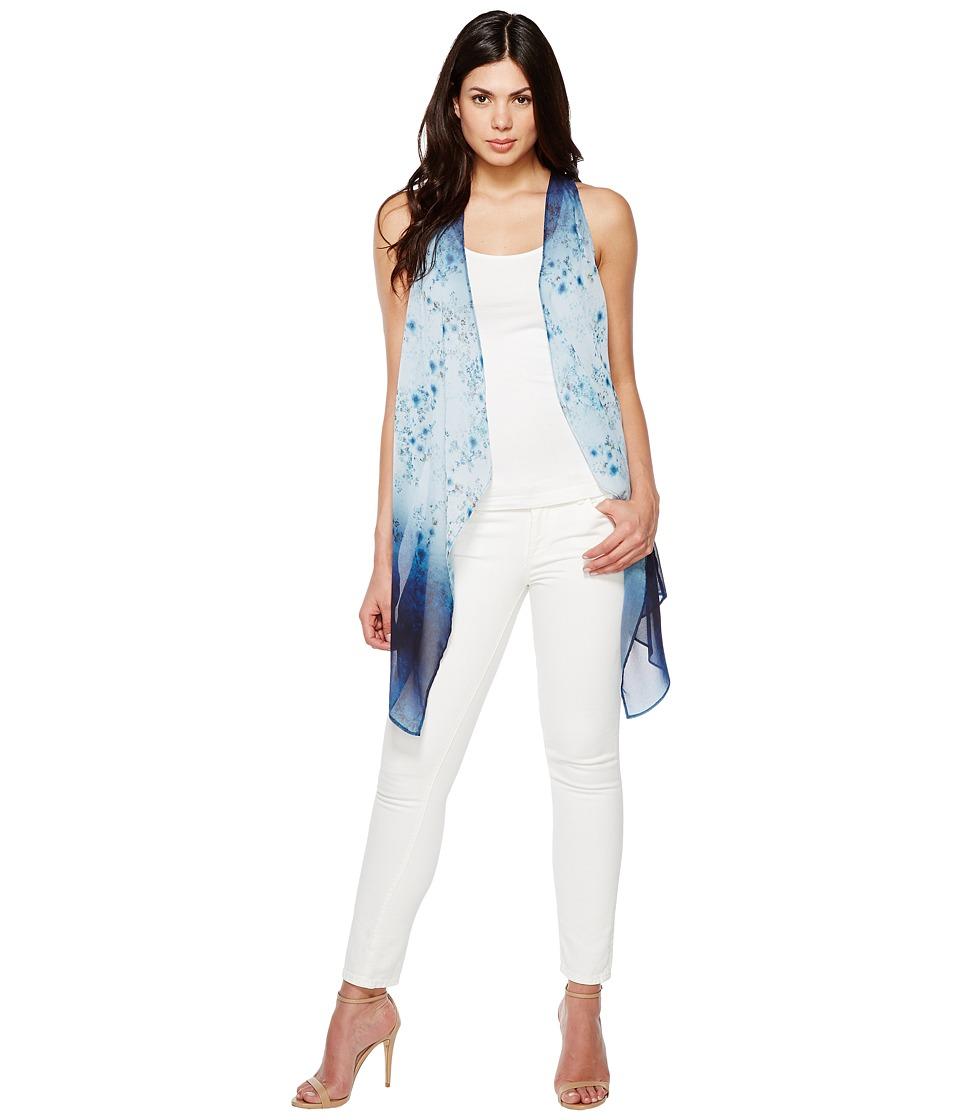 Karen Kane - Ombre Floral Vest (Print) Women's Vest