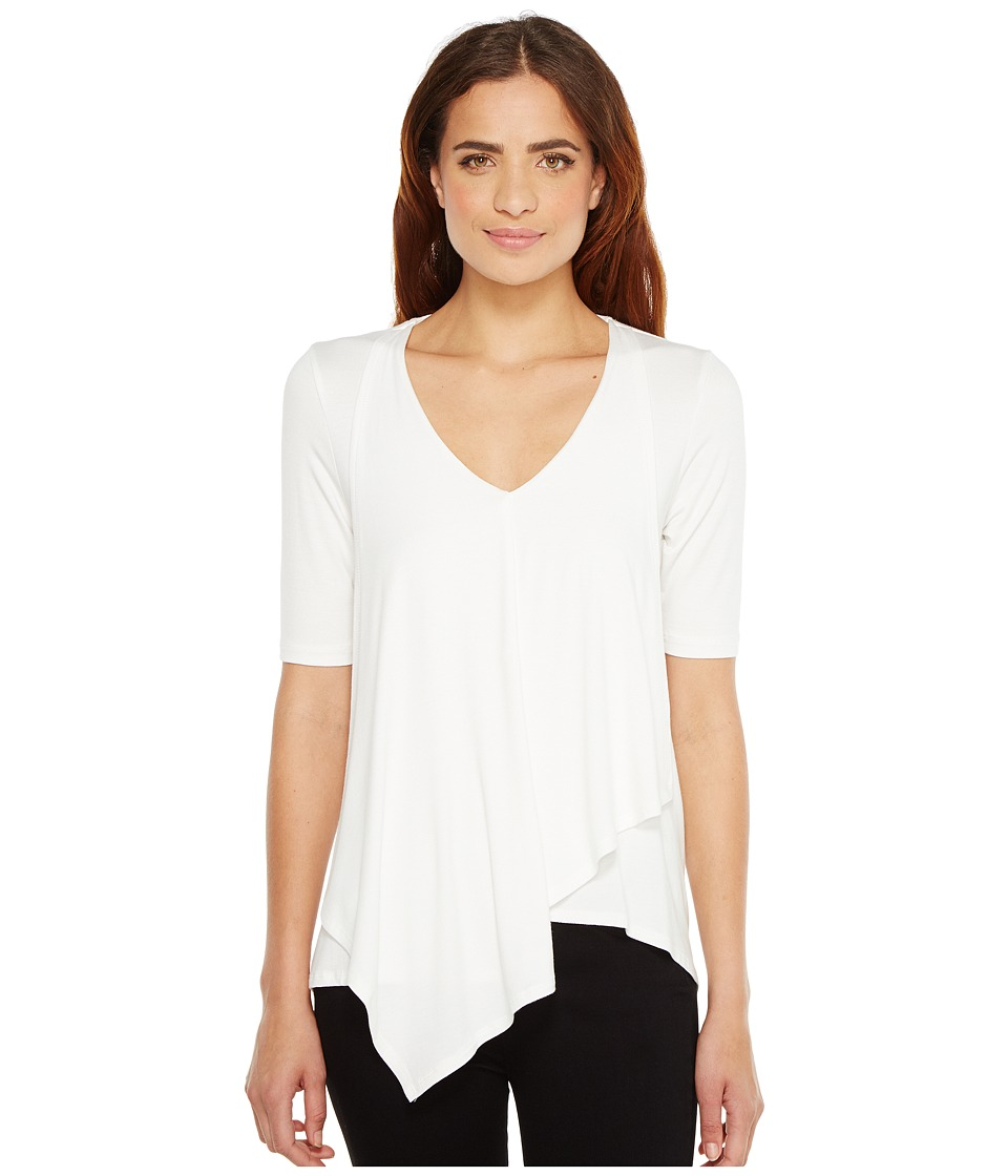 Karen Kane - Pencil Sleeve Drape Tee (Off-White) Women's T Shirt