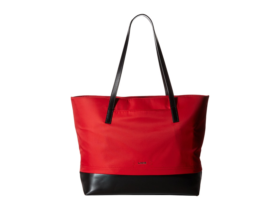 Lodis Accessories - Kate Nylon Fabia Tote (Red) Tote Handbags