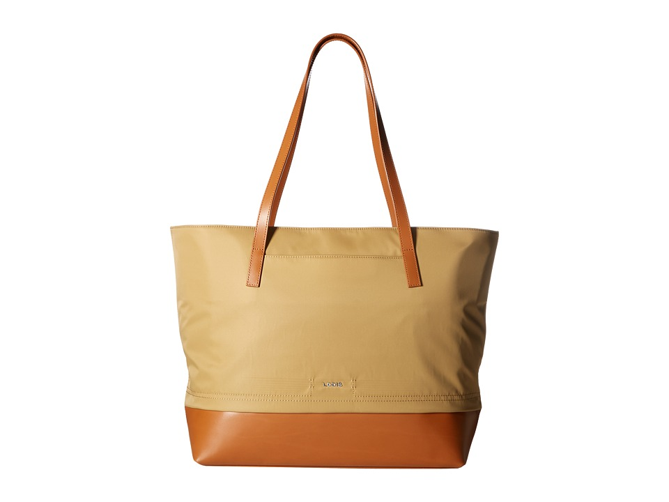 Lodis Accessories - Kate Nylon Fabia Tote (Light Brown) Tote Handbags