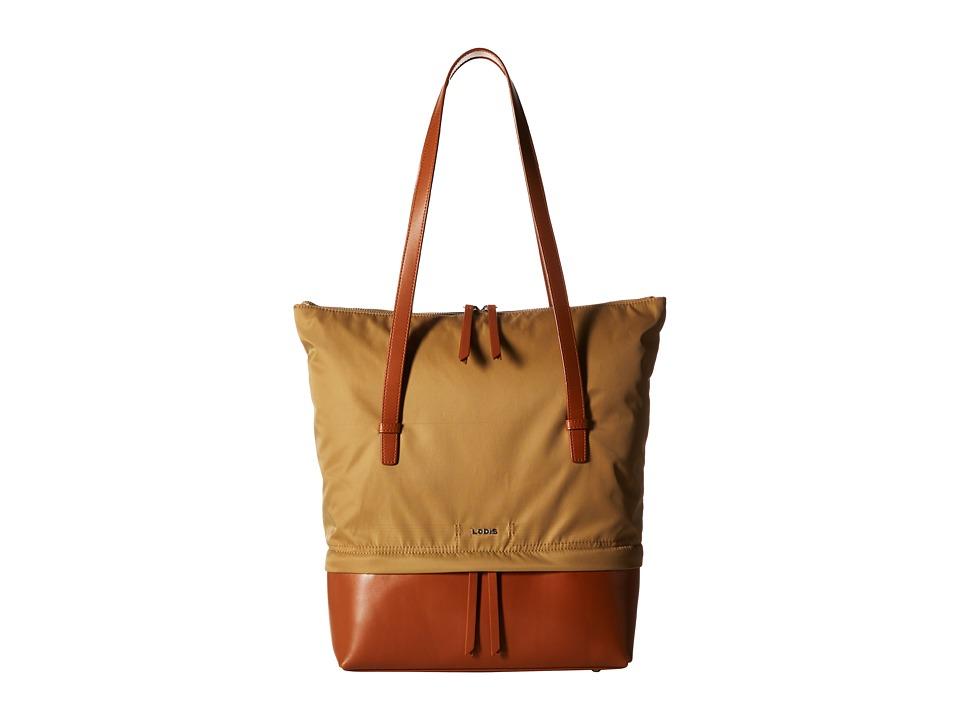 Lodis Accessories - Kate Nylon Barbara Commuter Tote (Light Brown) Tote Handbags