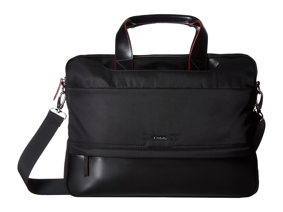 Lodis Accessories - Kate Nylon Alexus Brief (Black) Briefcase Bags