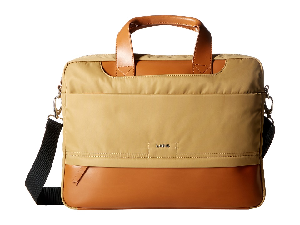 Lodis Accessories - Kate Nylon Alexus Brief (Light Brown) Briefcase Bags