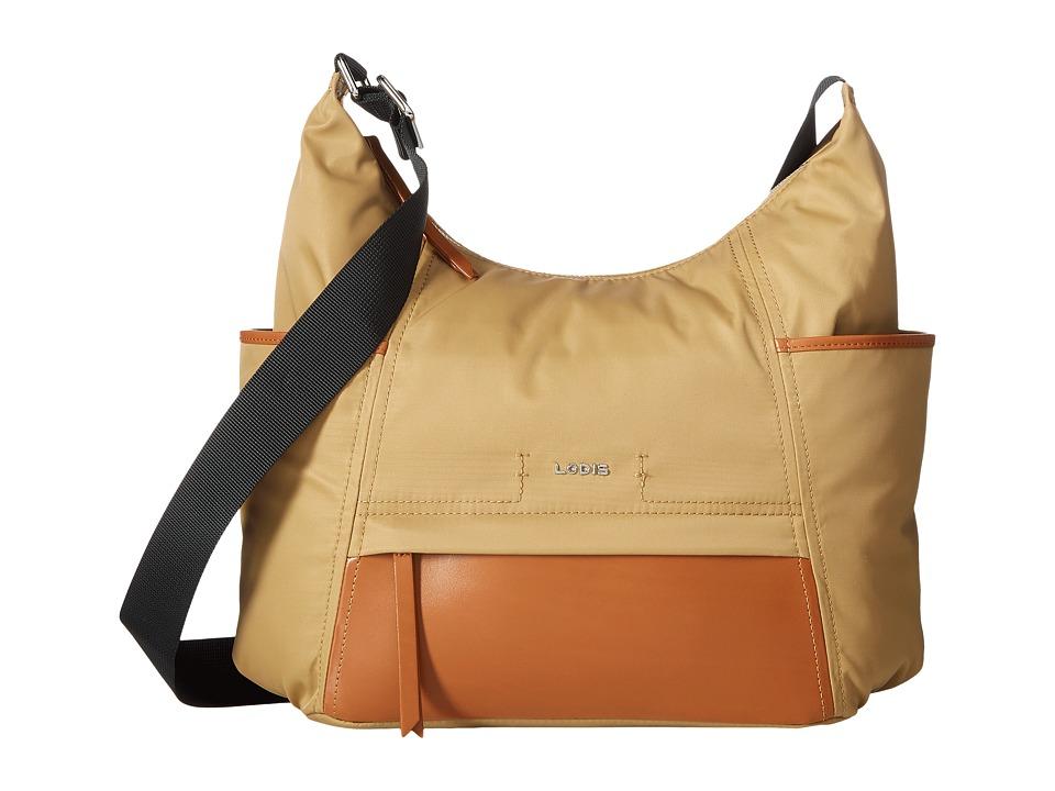 Lodis Accessories - Kate Nylon Olga Hobo (Light Brown) Hobo Handbags
