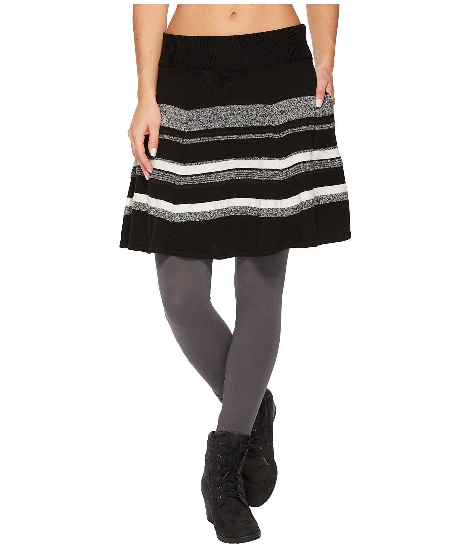 Smartwool Cascade Valley Stripe Skater Skirt (Black) Women