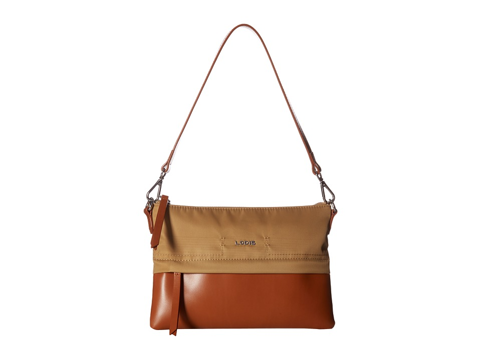Lodis Accessories - Kate Nylon Kala Convertible Crossbody (Light Brown) Cross Body Handbags
