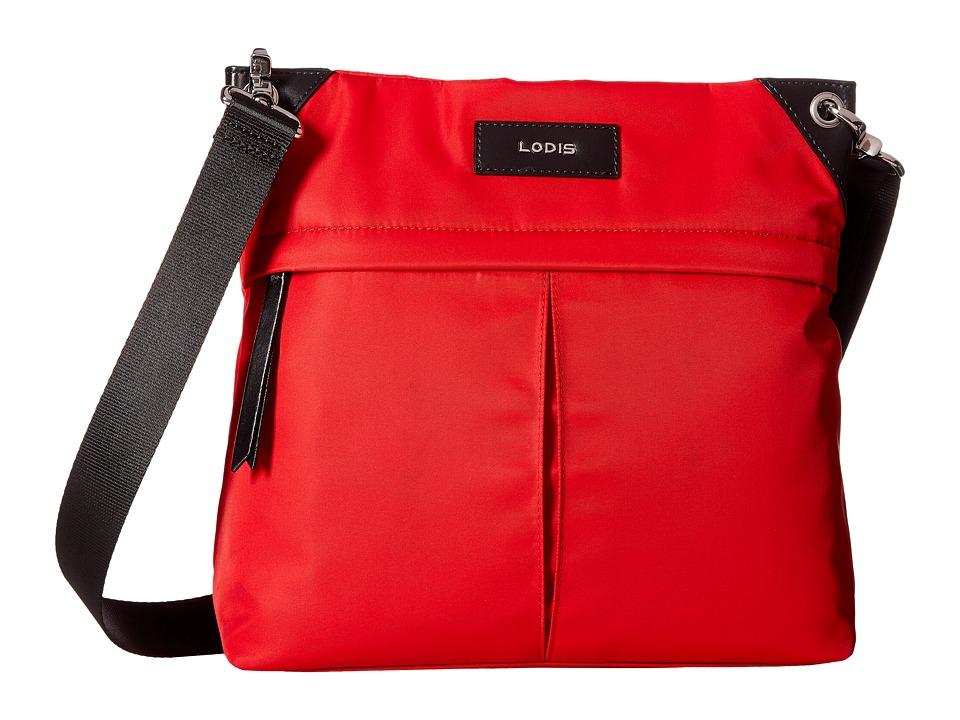Lodis Accessories - Kate Nylon Caryn Travel Crossbody (Red) Cross Body Handbags