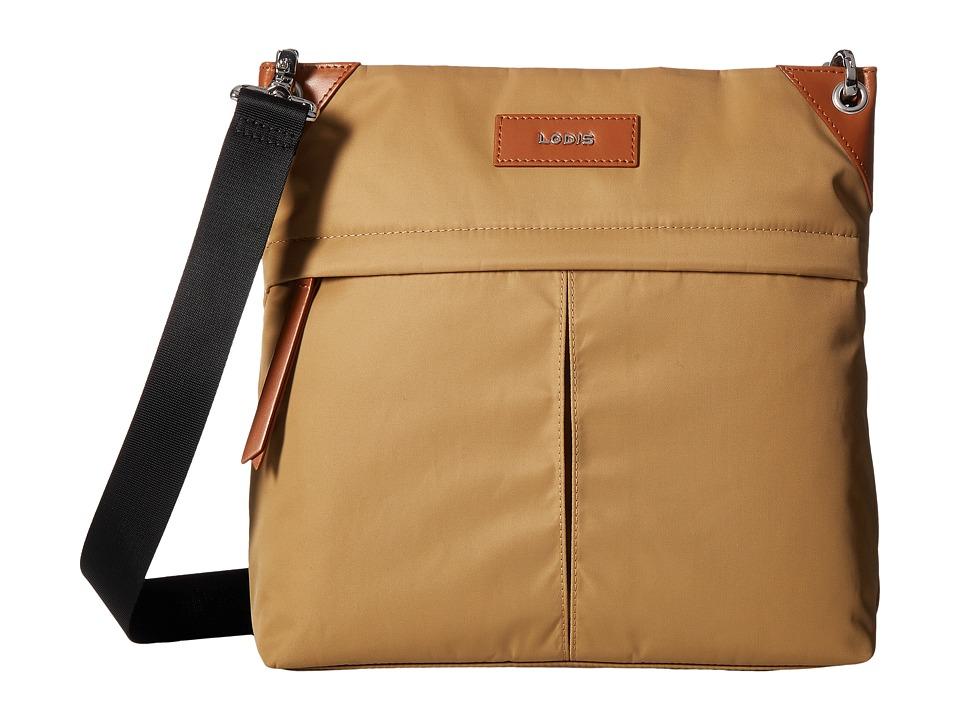 Lodis Accessories - Kate Nylon Caryn Travel Crossbody (Light Brown) Cross Body Handbags