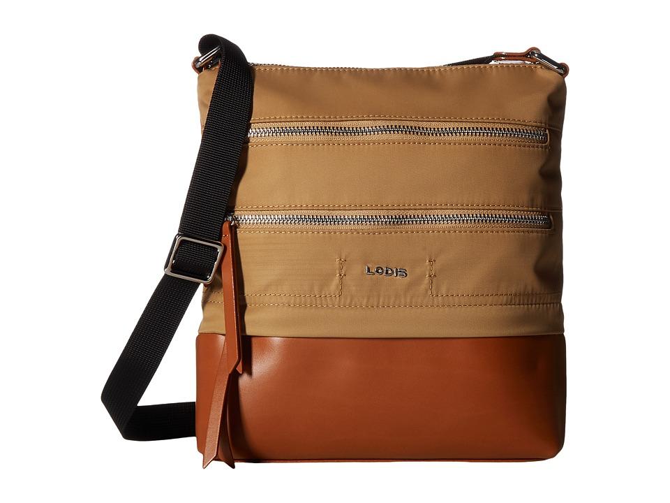 Lodis Accessories - Kate Nylon RFID Under Lock Key Wanda Travel Crossbody (Light Brown) Cross Body Handbags
