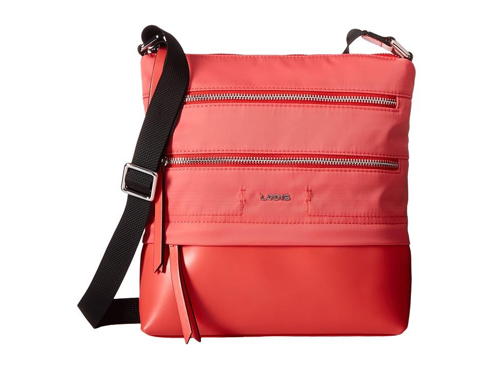 Lodis Accessories - Kate Nylon RFID Under Lock Key Wanda Travel Crossbody (Rose) Cross Body Handbags
