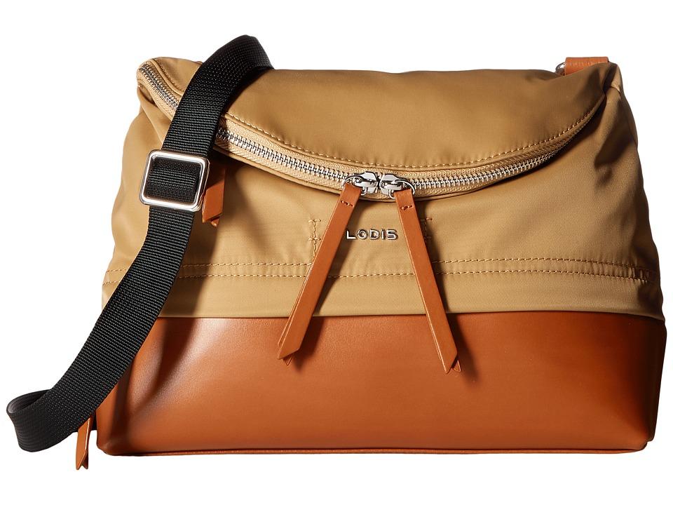 Lodis Accessories - Kate Nylon RFID Under Lock Key Yukie Convertible Crossbody (Light Brown) Cross Body Handbags