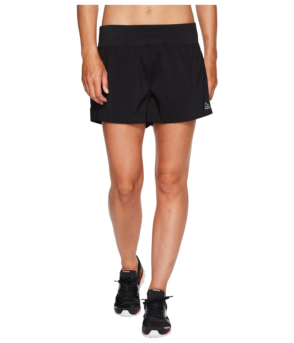 Reebok - Woven 4in Shorts (Black) Women's Shorts