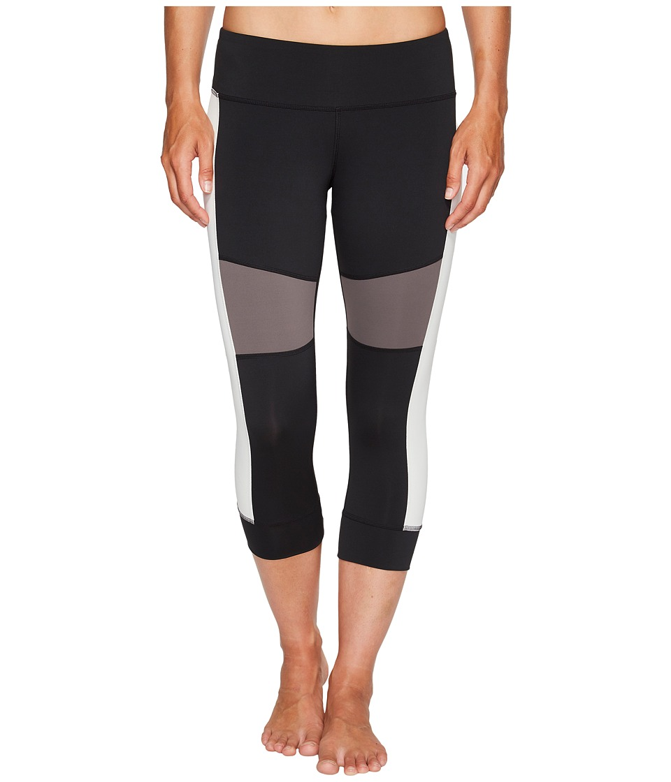 Reebok 3/4 Color Block Tights (Black) Women