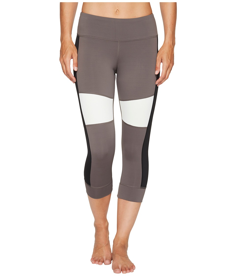 Reebok - 3/4 Color Block Tights (Urban Grey) Women's Capri