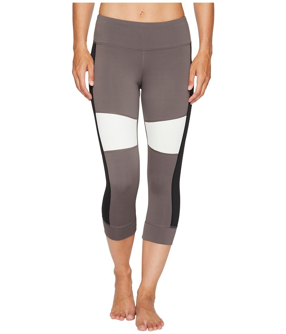 Reebok 3/4 Color Block Tights (Urban Grey) Women