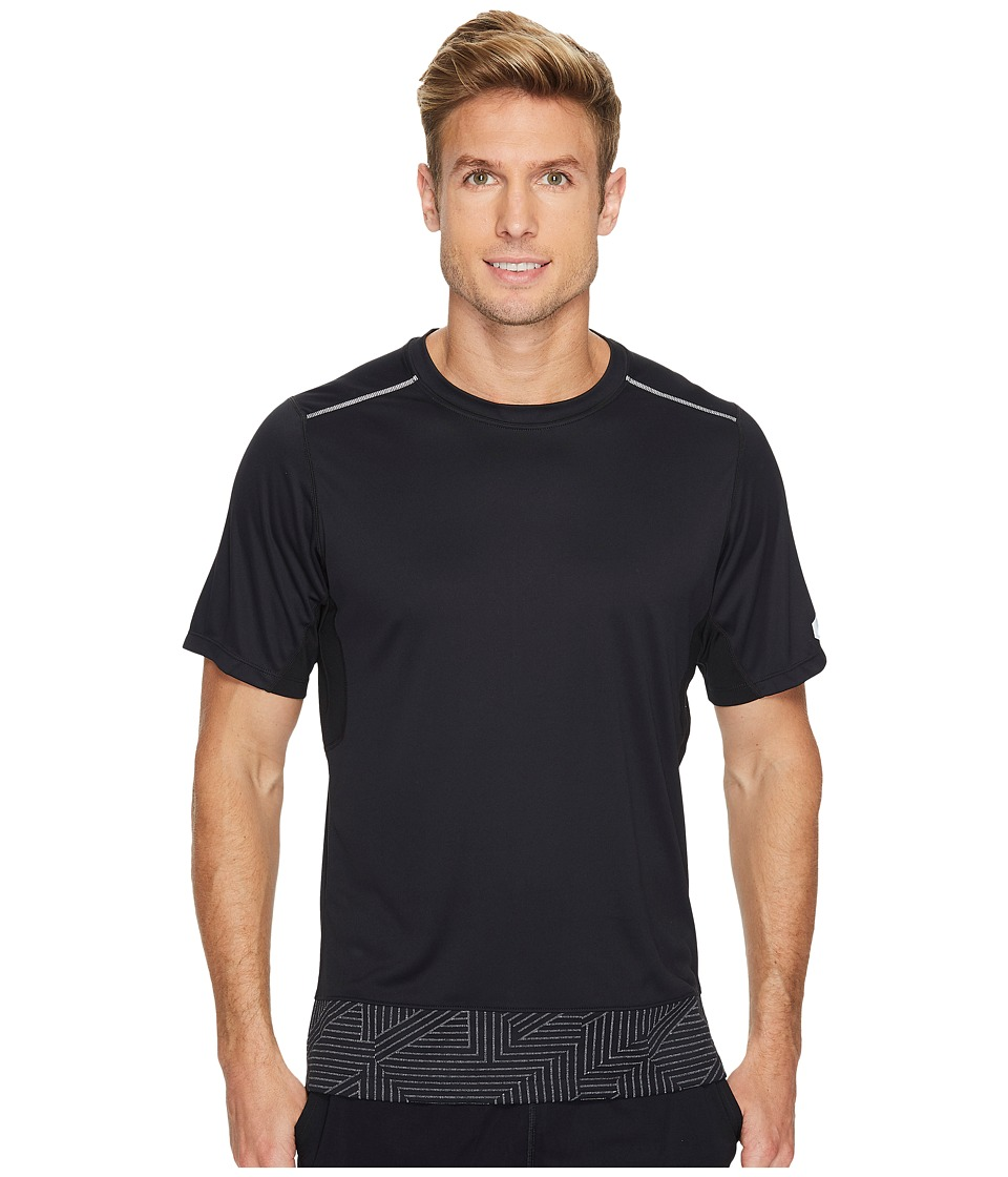 ASICS - Lite-Show Short Sleeve Top (Performance Black/Spliced Stripe) Men's T Shirt