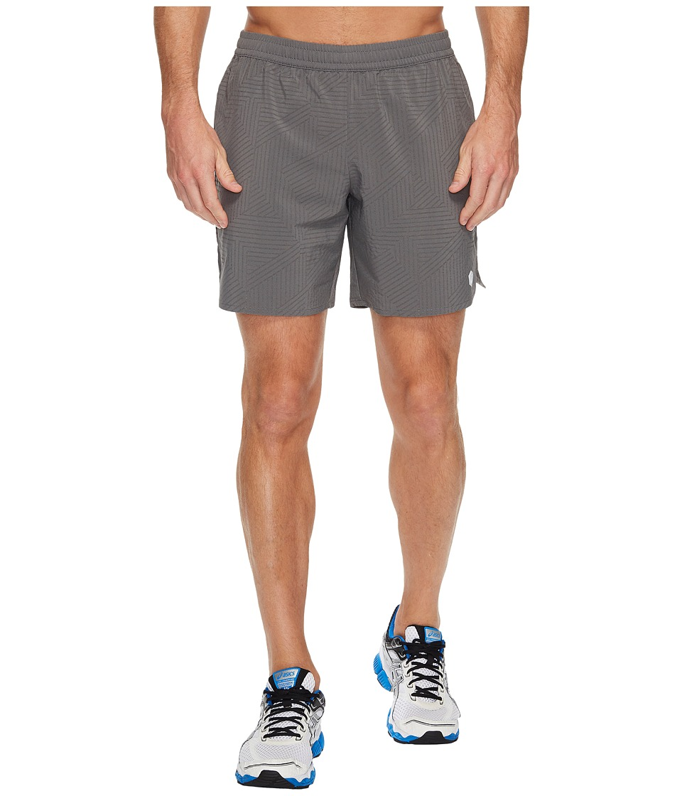 ASICS - Lite-Show 7 Shorts (Castlerock Spliced Stripe) Men's Shorts