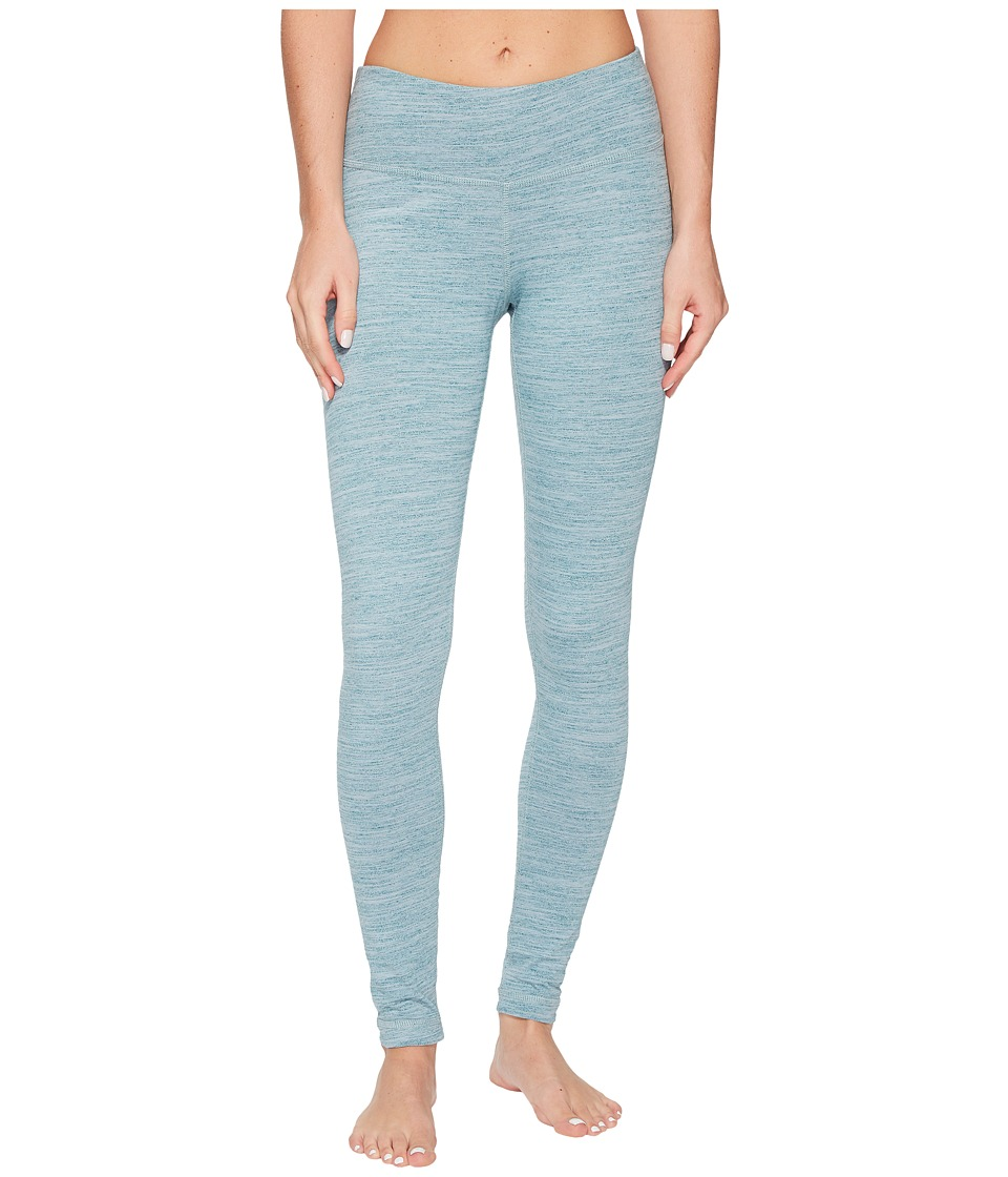 Reebok - Elements Marble Melange Leggings (Washed Jade) Women's Workout