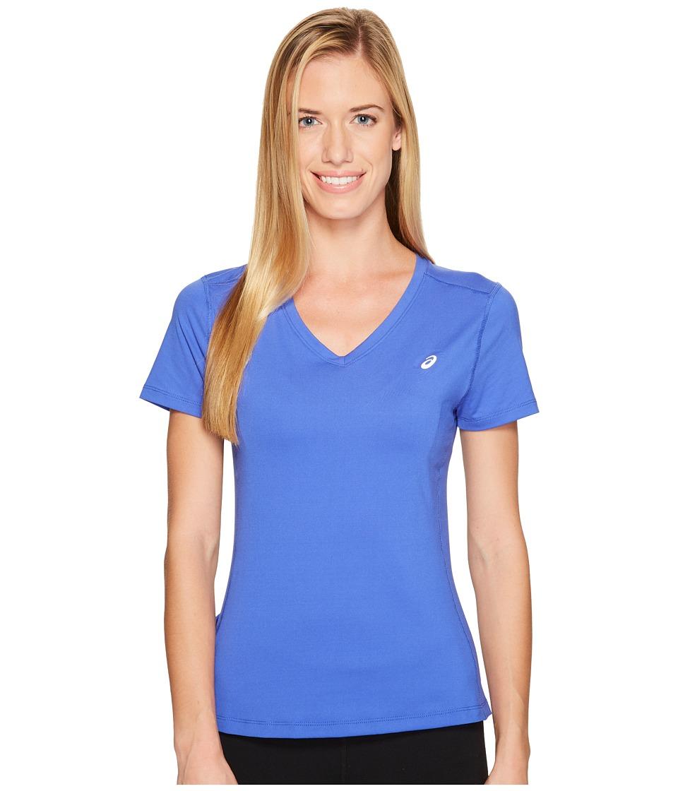 ASICS ASX Dry Short Sleeve Shirt (Blue Purple) Women
