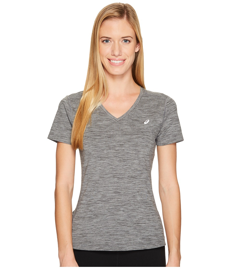 ASICS - ASX Dry Short Sleeve Shirt (Medium Grey Heather) Women's T Shirt