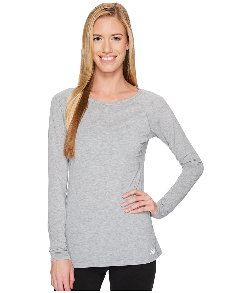 New Balance - Long Sleeve Layer Top (Athletic Grey) Women's Long Sleeve Pullover