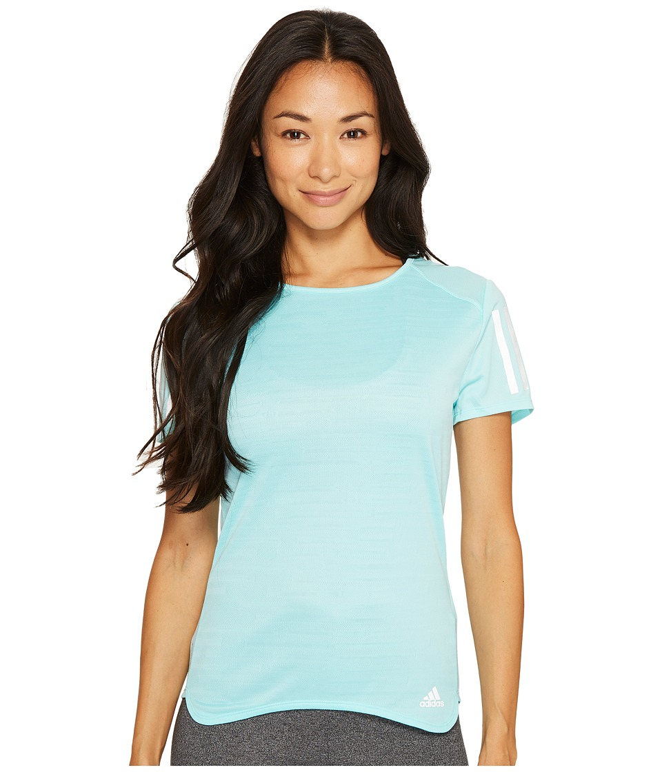 adidas - Response Short Sleeve Tee (Energy Aqua) Women's Short Sleeve Pullover